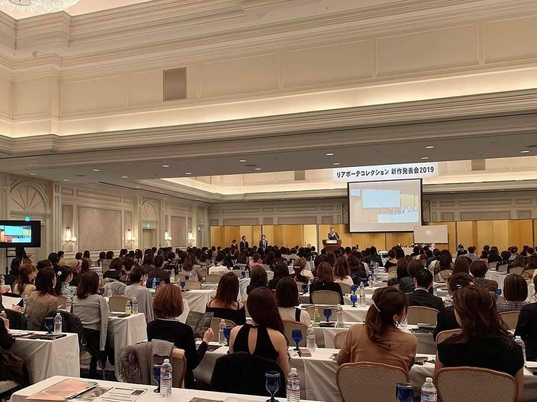 リアボーテコレクション グランスキンシリーズの発表会をリッツ・カールトン大阪にて開催いたしました。
